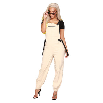 B32207A 2018 Fashion europese stijl vrouwen casual cargo broek jumpsuits