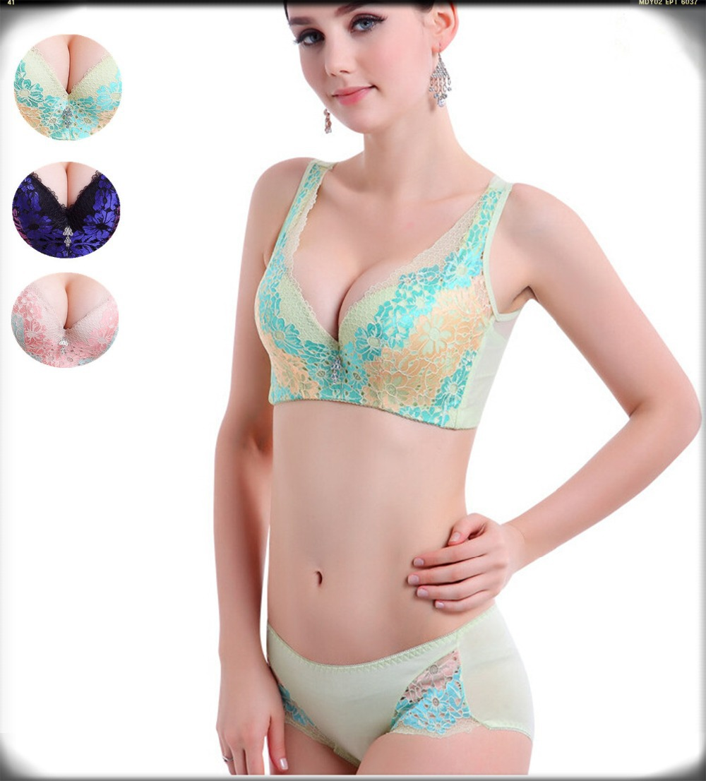 Get Quotations · bra briefs set full cup summer style 2015 newest push up  bras panty set plus cup 5ee538048