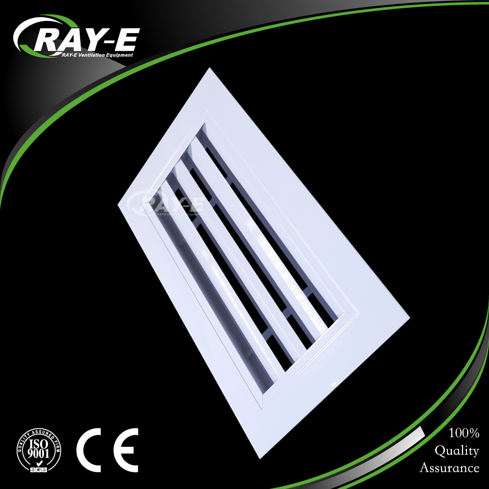 aluminum fixed blades waterproof duct vent return air grille louver for HVAC system