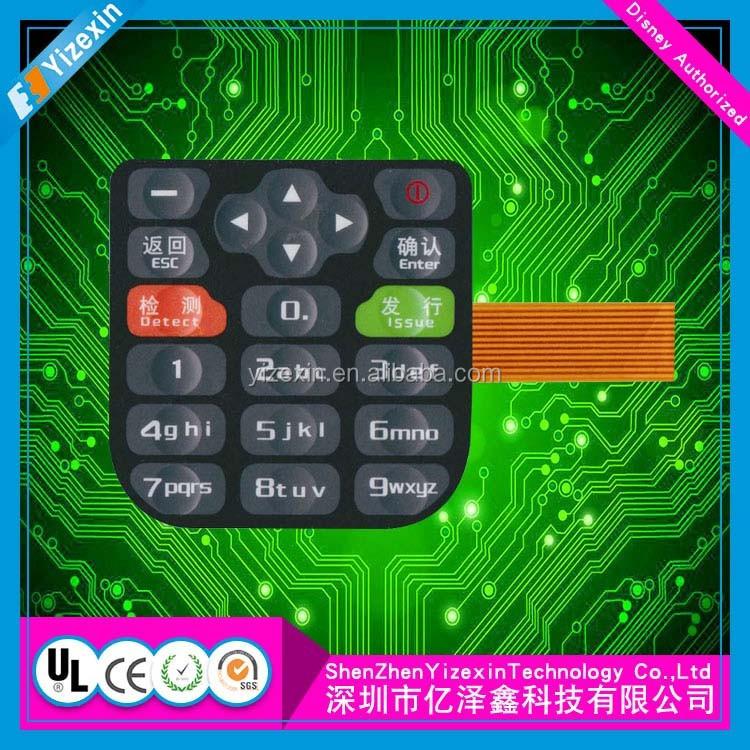 Touch Switch Flexible Printed Circuit Capacitive ITO Touch 막 switch/touch sensor 막 키보드