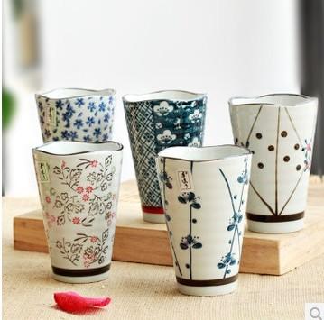 5 pcs set vent tasse en c ramique tasse cr ative japonais th tasses tasse de bi re dans. Black Bedroom Furniture Sets. Home Design Ideas