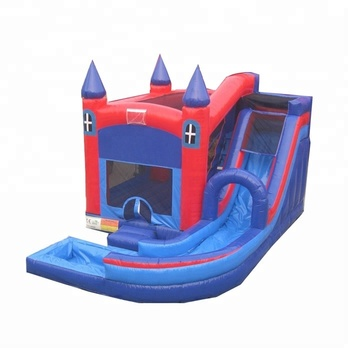Colorful 0.55mm PVC  children outdoor games water pool inflatable bouncer