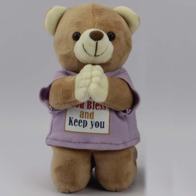 Custom Pray Teddy Bear Cute Stuffed Plush Teddy Bear With Custom