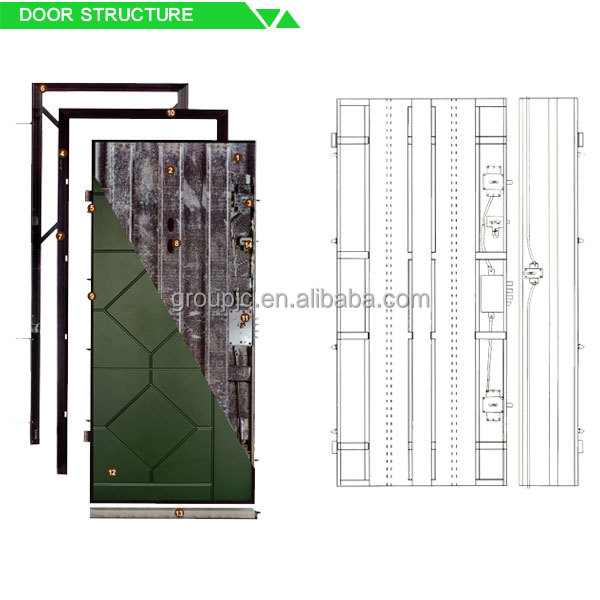 Modern main wrought iron gate designs steel structure for Building main door designs