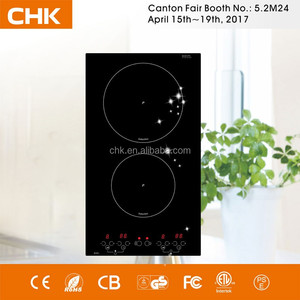 China 220v 3000w CE CB Double Burner Built in Induction Hob