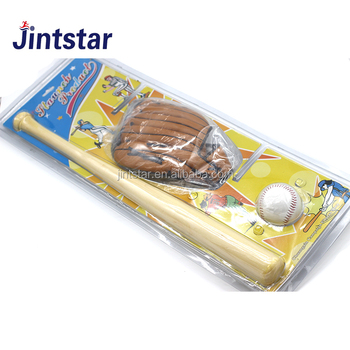 Jintstar Wholesale Cheap Wooden Baseball Bat Set With Leather Ball Glove For Kids Buy Baseball Bat Setkids Baseball Bat Setwooden Baseball Bat