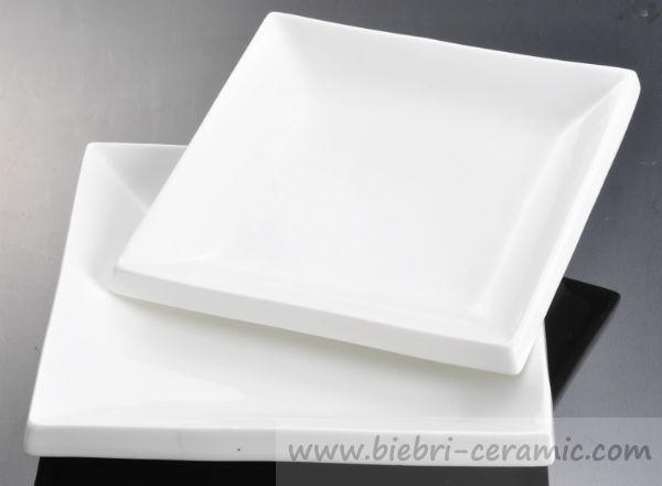 Wholesale Ceramy Milk White Simple Design Modern Style Square Shaped Ceramic Porcelain Plates Dishes Fancy Hotel & Wholesale Ceramy Milk White Simple Design Modern Style Square Shaped ...