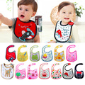 100 Brand New 13 Styles Baby Infant Boy Girl Waterproof Cute Multi Cartoon Patterns Bibs For