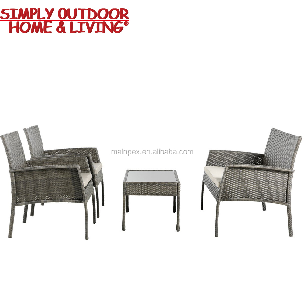 Outdoor New Style 4 Seater Patio Cane Furniture Cheap Rattan Garden Sofa