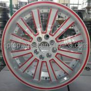 In fashion red lip wheels and white rueda 17 18inch deep dish alloys rims car wheel rims ipw for Mexico market