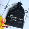 private package drawstring satin silk bag for hair extension bundles
