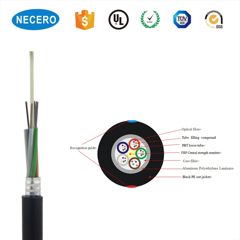 custom outdoor 1 to 288 Cores overhead Optical Fiber Cable
