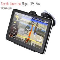 7 inch cpu 800mhz CE6.0 FM gps navigator av in mirror gps bluetooth camera car gps navigation system for audi a5