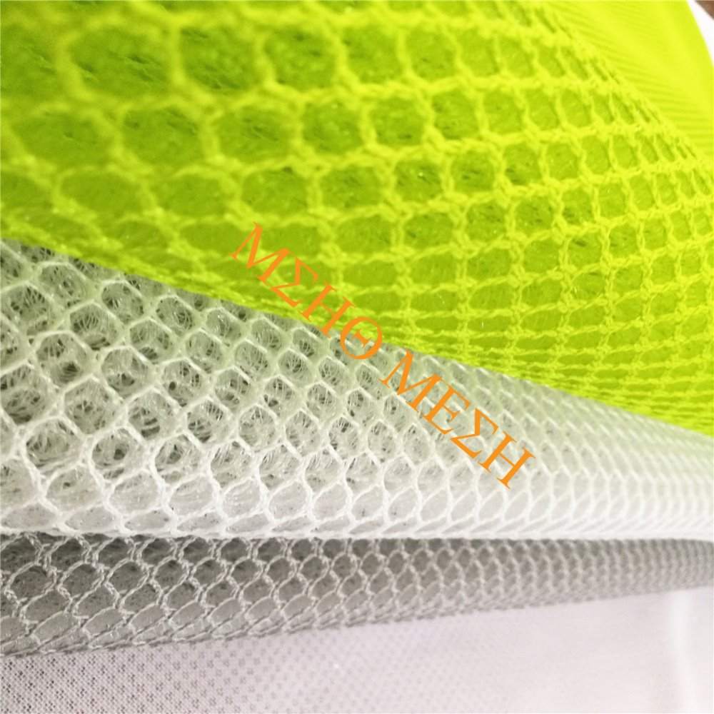 Sandwich 3d decorative polyester as dyeing mesh fabric