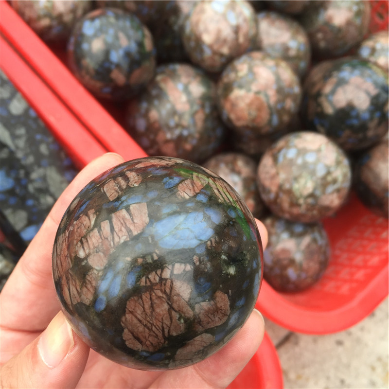Wholesale Polished Red Glaucophane Sphere Quartz Ball For Home Decor