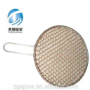 Hot TYLH Factory Custom Charcoal Food Grade Round Copper BBQ Grill