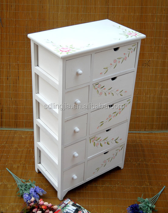 2 Drawer Wicker Basket Chest Of Unit Cabinet Wood Acrylic Makeup ...