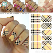Ruikalong second generation move water make-up manicure nail sticker nail art decal sticker decorations-free Nail Polish KG003A