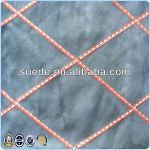 wholesale fabric Weft Suede with Embroidery design for sofa