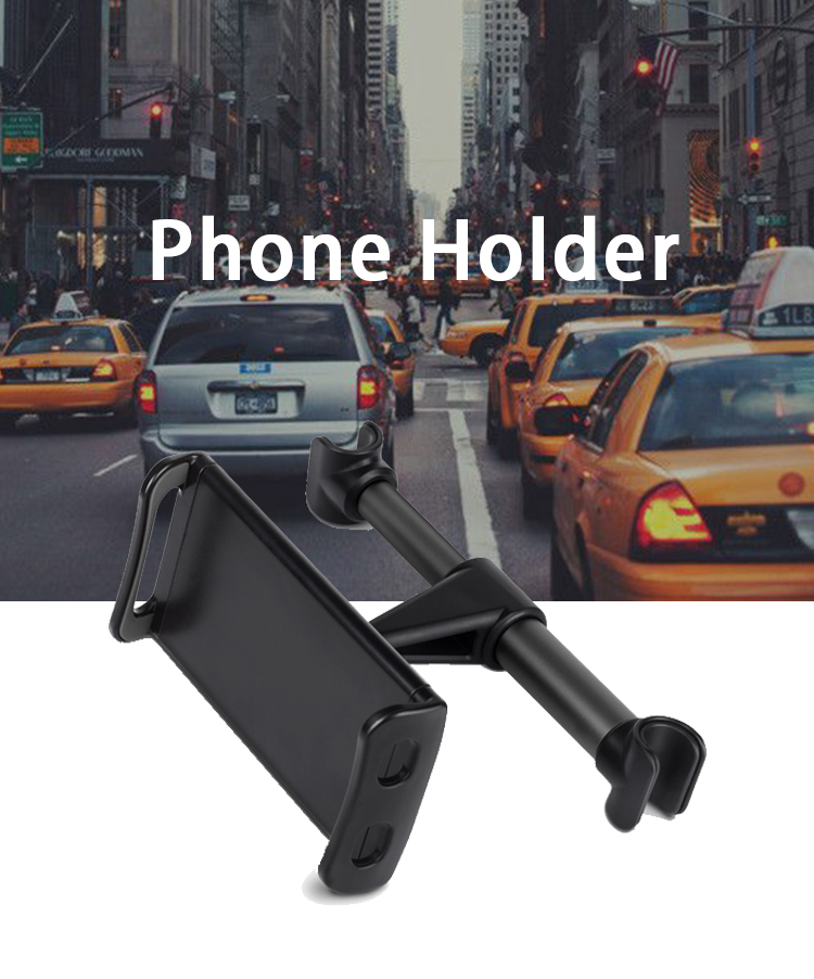 SJ-Z-050 Mobile phone holders for cars iphone where to mount cell on Car Rear Pillow phone clamp 360 rotational