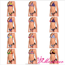 Moshiner Polyester Spandex <span class=keywords><strong>Flagge</strong></span> Bademode Gepolsterte Bade Strand Halter Badeanzug Bikinis Set Micro Dreieck Bademode volle größe hot sexy