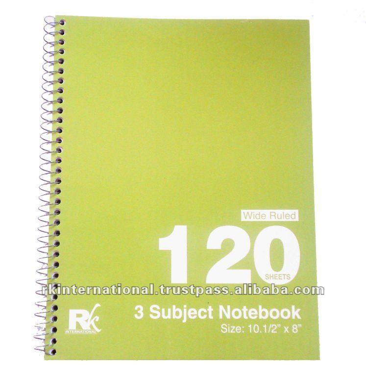 Spiral Writing Notebook,Subject Spiral Notebook - Buy Spiral ...
