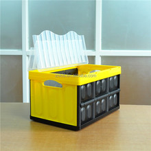 46L Wholesale home storage box plastic collapsible container with lid
