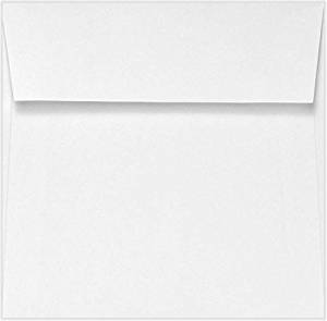 5 x 5 Square Envelopes w/Peel & Press - 70lb. Bright White (500 Qty.) | Perfect for announcements, special events, weddings and greeting cards | Printable | 70lb Text Paper | 10894-500