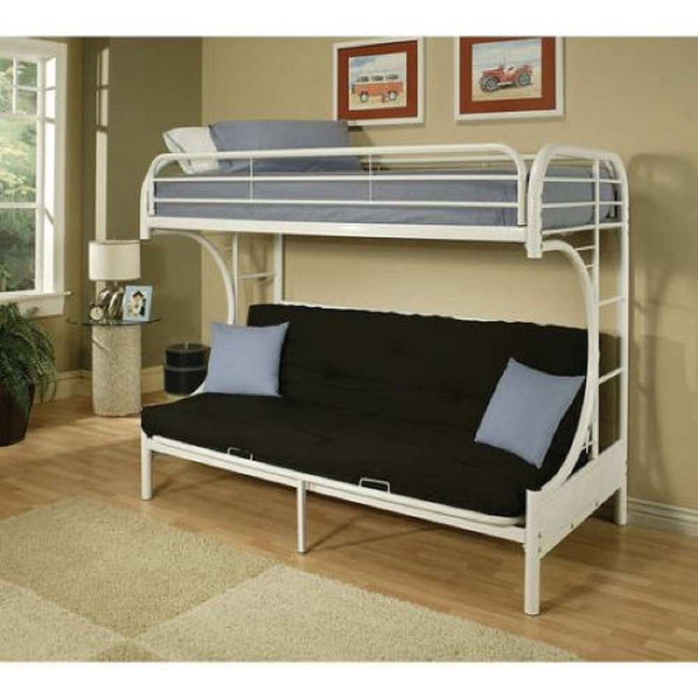 Get Quotations Acme Furniture 2091w W Eclipse Twin Over Full Futon Bunkbed White