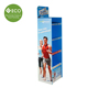 Four Tires Cardboard Floor Display Stand For Sports Goods Promotion