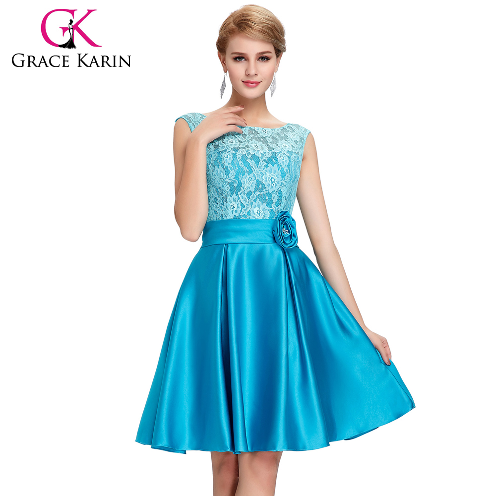 Grace Karin V-back Short Knee Length Lace Formal Japanese Prom Dress ...