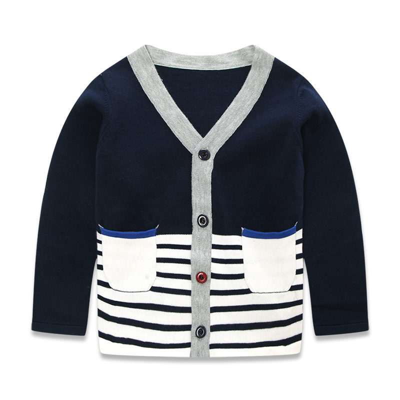 34d7573d0 Get Quotations · New 2015 Spring Autumn Toddler Boys Navy Blue Sweater  Fashion Stripe Patchwork Knitted Cardigan Sweater For