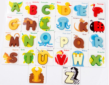 Gout Episodic Memory English Letters Kids Wooden Alphabet Toy Buy