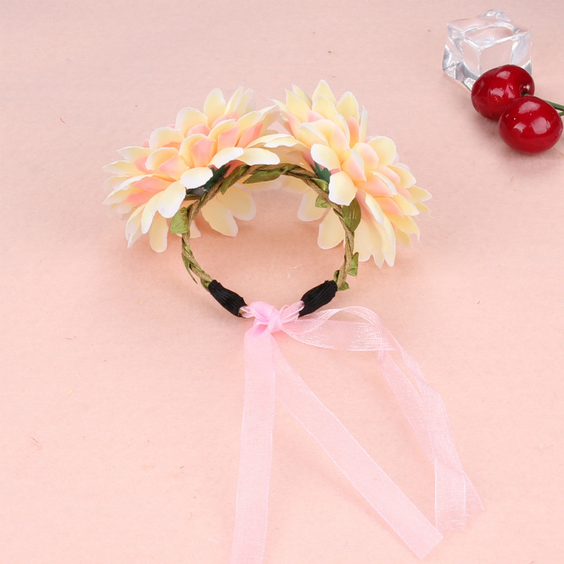Sitoy pastoral style bride romantic fabric wrist flower decor