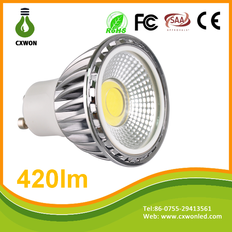 CE RoHS 5W GU10 MR16 110V 220V 12V Dimmable LED spotlight price