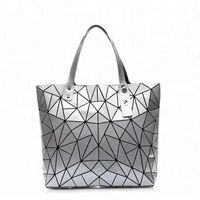 Fashion Geometry Package Lingge Totes Triangle Fold Over Ladies Shoulder Bag