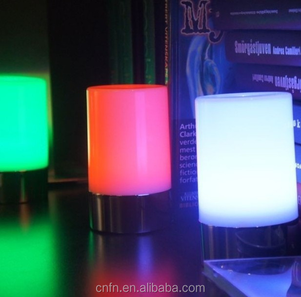Wholesale rechargeable Led table lights,rainbow light led table light with USB cable