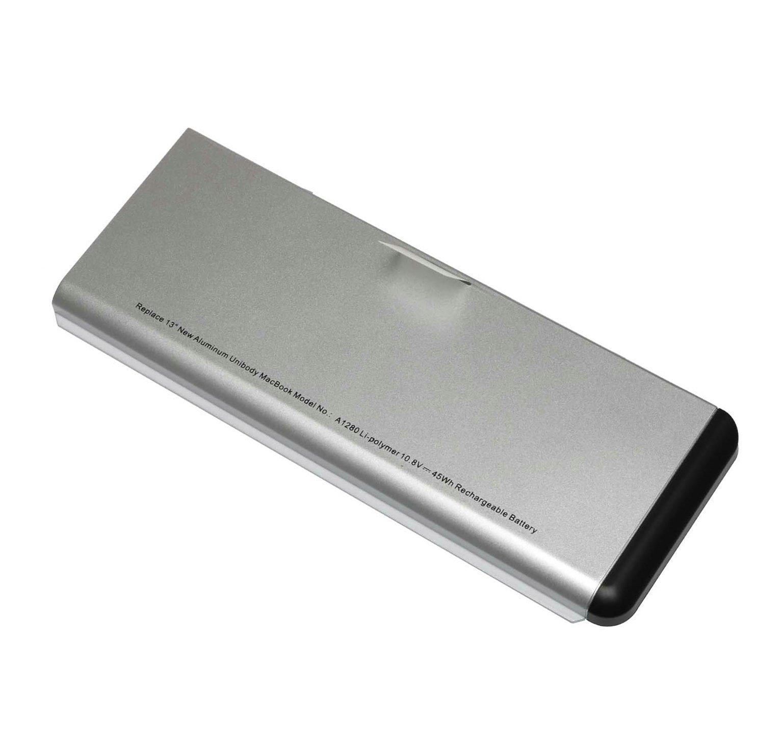 Elecbrain® 45WH Laptop Battery for Apple A1278 A1280 (Macbook 13-Inch Late 2008 Aluminum Version) Aluminum Unibody MB467LL/A / MB466LL/A