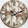 Walden Crafts Round High Quality Antique Wooden Clock Wall Clock