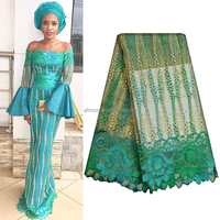 NQ439 Queency New Gorgeous Design Nigerian African Tulle Lace Fabric High Quality with Stones Embroidery