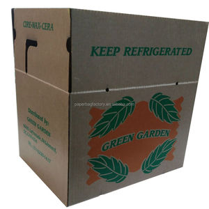 high density CORRUGATED PAPER WAX COATED CARDBOARD BOX