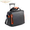 16 Inch Cow Leather Laptop Trolley Bag With Shoulder Strap
