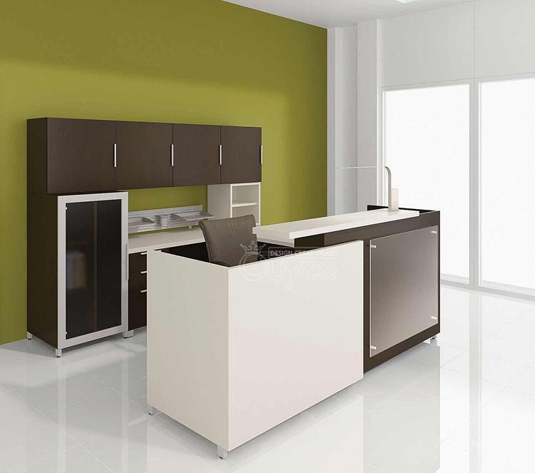 exqusite modern reception counter design for office black color furniture office counter design