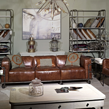 Industrial Le industrial vintage leather le corbusier sofa set with wheels buy