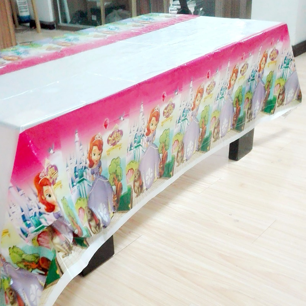 ASiteOneWorld.com & 180*108cm Plastic snow White cartoon Table Cover Disposable ...