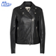 Wholesale black gothic italian leather coats and jackets woman