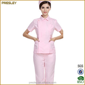 Nurse uniforms summer short sleeve split suit pink overalls for maternity matrons