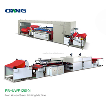 High efficiency non-woven fabric screen printing machine