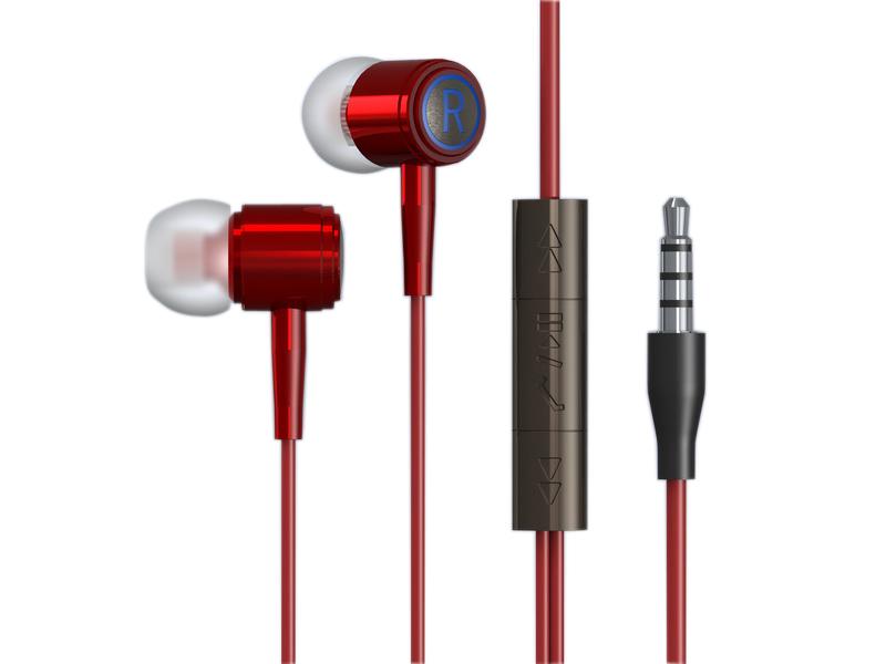 スマートフォンステレオ耳のヘッドフォンで、金属耳のヘッドフォンで、工場出荷時の価格耳のヘッドフォンで 3.5 ミリメートルコネクタ