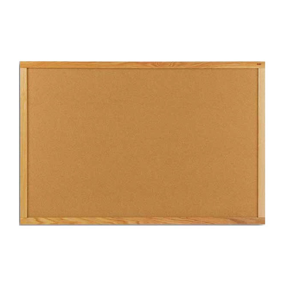 "Marsh 33-1/2""x 45-1/2"" Blue Sky Vinyl Bulletin Board Oak Wood Trim"